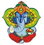 Accogliere bella carta con l'elefante illustrazione di stock