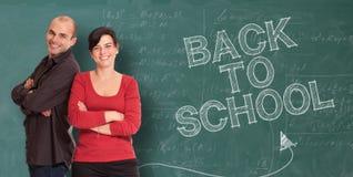 Accogliere favorevolmente gli insegnanti Immagine Stock Libera da Diritti