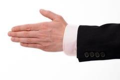 Accoglimento della mano di un uomo d'affari. Fotografie Stock Libere da Diritti