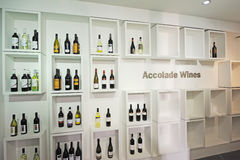 Accolade Wines. In the shelf stock image