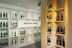 Accolade Wines. In the shelf royalty free stock images