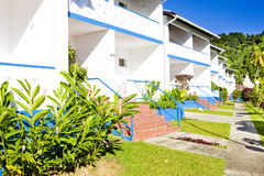 Accommodation. In Maracas Bay, Trinidad stock images