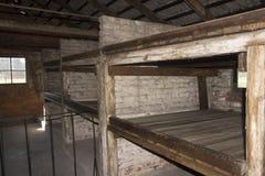 Accommodation in Auschwitz II Birkenau Stock Photography