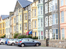 Accommodation, Barmouth, Wales. Hotels and Guest houses on Marine Drive, Barmouth, Wales Stock Photos