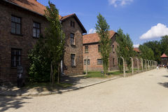 Accommodation buildings in Auschwitz I camp Royalty Free Stock Photo