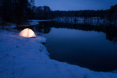 Accommodation extreme location in the winter Stock Photo