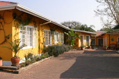 Accommodation Guesthouse. Outer view of an accommodation in Windhoek, Namibia royalty free stock images