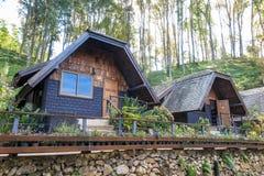 Accommodation, house, resort at Ang Khang, Chiang Mai Stock Photos