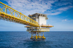 Accommodation platform at oil and gas industry Stock Photo