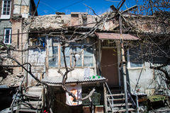 Accommodation in urban district for poor Yerevan, Armenia Royalty Free Stock Image