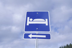 An accommodations sign Stock Photos