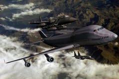Accompagnare gli aerei Immagine Stock