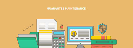 Accompanying of the Product. Guarantee Maintenance Stock Photos