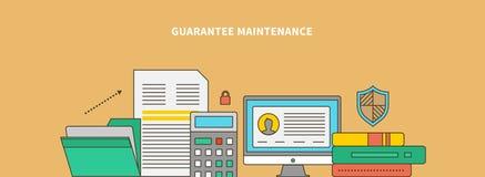 Accompanying of the Product. Guarantee Maintenance vector illustration