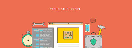 Accompanying of the Product. Technical Support Royalty Free Stock Images