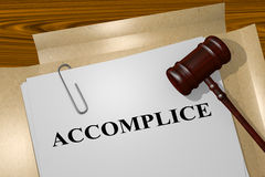 Accomplice - legal concept Royalty Free Stock Photo