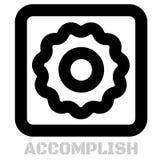 Accomplish conceptual graphic icon. Design language element, graphic sign Royalty Free Stock Photos