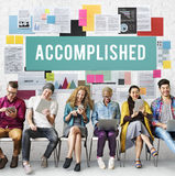 Accomplished Achieve Development Excellence Concept Stock Photography