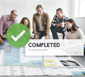 Accomplished Achieved Approve Completed Concept.  royalty free stock photo