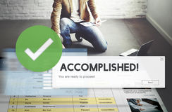 Accomplished Achieved Approve Completed Concept royalty free stock images