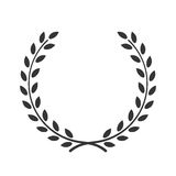 Accomplissement de victoire de symbole de guirlande de laurier illustration de vecteur