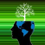Accomplissement humain et le pouvoir de la réussite personnelle dans les affaires comme montagne des arbres Photographie stock