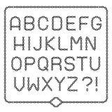 Accomplissez l'alphabet à chaînes noir illustration libre de droits