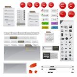 Accomplissez l'ensemble d'élément gris et noir de conception de site Web illustration stock