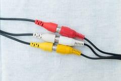 Accomplissez les cables connecteur image libre de droits
