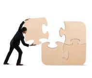 Accomplissez un puzzle avec le morceau absent photos libres de droits