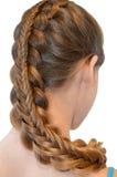 Acconciatura con capelli lunghi fotografie stock