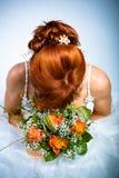 Acconciatura della sposa Fotografia Stock