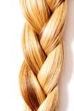 Acconciatura della treccia Fine lunga bionda dei capelli su immagine stock libera da diritti