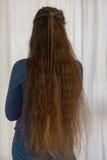 Acconciatura sciolta di rinascita per capelli lunghi fotografia stock