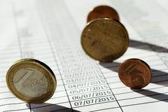 Acconting monétaire Image libre de droits