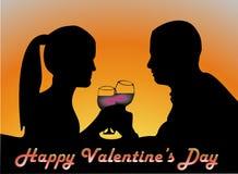 Accoppi il giorno dei biglietti di S. Valentino illustrazione di stock