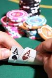 Accoppiamenti degli assi nel gioco di mazza Fotografie Stock Libere da Diritti