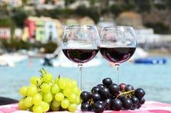Accoppiamenti dei bicchieri di vino Immagini Stock