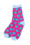Accoppiamenti dei calzini variopinti Fotografia Stock