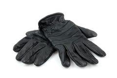 Accoppiamenti dei guanti di cuoio neri Immagine Stock