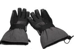 Accoppiamenti dei guanti grigi dello snowboard immagine stock libera da diritti