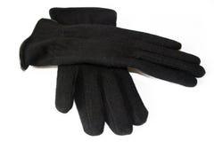 Accoppiamenti dei guanti neri Fotografie Stock
