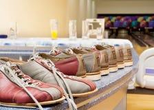 Accoppiamenti dei pattini di bowling Fotografie Stock