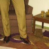 Accoppiamenti dei piedini maschii. Immagine Stock