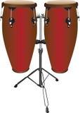 Accoppiamenti dei tamburi del Conga Fotografia Stock