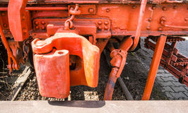 Accoppiamenti del treno del Caboose immagine stock libera da diritti