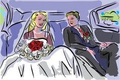 Accoppiamenti di cerimonia nuziale royalty illustrazione gratis