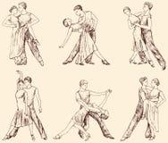 Accoppiamenti di Dancing Fotografia Stock