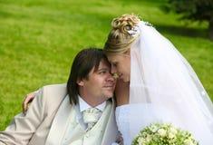 Accoppiamenti recentemente sposati Fotografie Stock Libere da Diritti