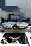 Accoppiamento del camion della quinta ruota unto fotografie stock libere da diritti